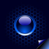 Blue button Royalty Free Stock Images