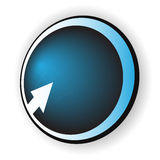 Blue button with arrow Stock Photos