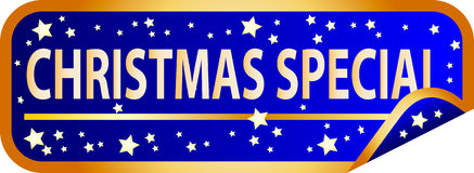 Blue Button Christmas Special Stock Photography