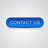 Blue button Contact us Royalty Free Stock Images