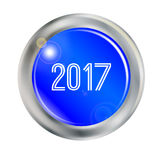 2017 Blue Button Stock Photography