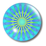 Blue Button Orb. An illustration of a blue design in a glass button orb with shadow Stock Photos