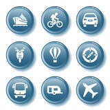 Blue button set 20. Vector icons set for internet, website, guides Royalty Free Stock Image