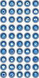 Blue button set Royalty Free Stock Images