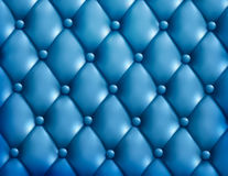 Blue button-tufted leather background. Vector illustration Stock Photography