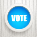 Blue button: Vote Royalty Free Stock Photos