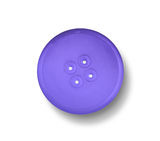 Blue button  on white with shadow. Stock Photography