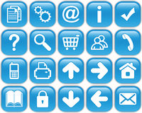 Blue buttons Royalty Free Stock Images