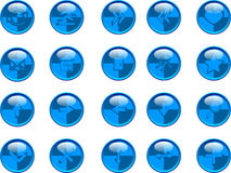 Blue buttons. Set blue buttons vector illustration Stock Images