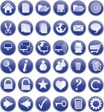 Blue buttons Royalty Free Stock Photos