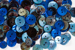 Blue buttons Stock Images