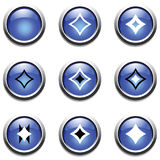 Blue buttons with decoration. Vector. Stock Photos