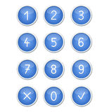 The blue buttons. Blue buttons isolated on white background Stock Photography