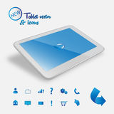 Blue buttons tablet Royalty Free Stock Photography
