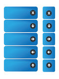 Blue buttons on website Royalty Free Stock Photo