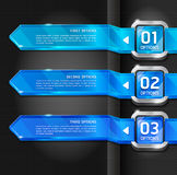 Blue Buttons Website Banner. Stock Photos