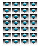Blue buttons for websites Stock Images