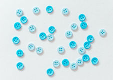 Blue buttons. On a white background Stock Photography