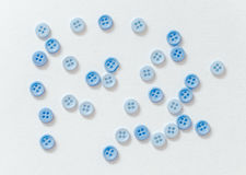 Blue buttons. On a white background Stock Photo