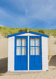 Blue Cabin or Hut on the Beach Royalty Free Stock Photos