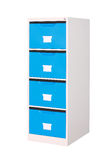 Blue cabinet with drawers Royalty Free Stock Photo