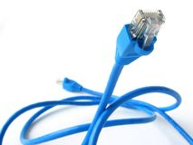 Blue cable Royalty Free Stock Image