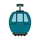 blue cable car transport image royalty free illustration
