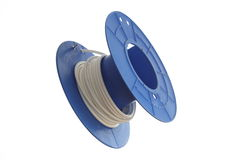 Blue cable roll Stock Image