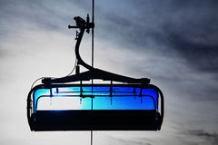 Blue cableway Stock Photo