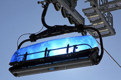 Blue cableway in Low Tatras, Slovakia Stock Image