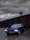 Blue cadillac Royalty Free Stock Photography