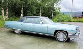 Blue Cadillac Royalty Free Stock Photos