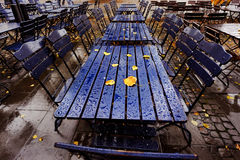 Blue cafe in Cologne, Germany Stock Image