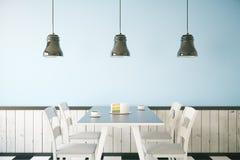 Blue cafe interior Stock Photo