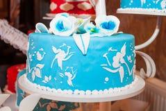 Blue cake Royalty Free Stock Photos