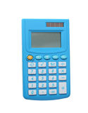 Blue calculator Royalty Free Stock Photography