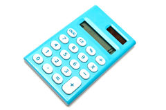 Blue calculator Royalty Free Stock Photo
