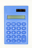 Blue calculator Royalty Free Stock Photos