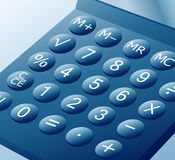 Blue_calculator Royalty Free Stock Photography