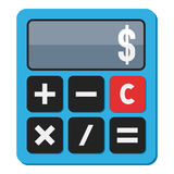 Blue Calculator Flat Icon Isolated on White Royalty Free Stock Photo