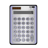 Blue calculator. On a white background Royalty Free Stock Photos