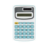 Blue calculator on white background Royalty Free Stock Photos