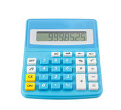 Blue calculator on white Stock Photography