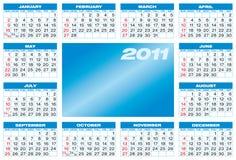 Blue Calendar 2011. Royalty Free Stock Photos