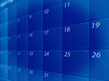Blue calendar Stock Photography