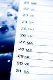 Blue calendar. Italian calendar in blue tone Royalty Free Stock Photos