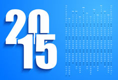 Blue 2015 calendar Stock Image