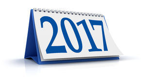 Blue calendar 2017 Stock Photos