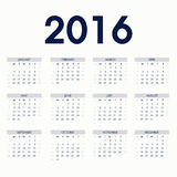 Blue Calendars 2016 Royalty Free Stock Image