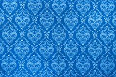 Blue calico texture Royalty Free Stock Photos